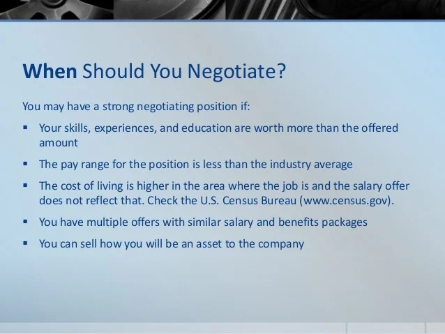 how to negotiate a job offer salary - Minimfagency - negotiating job offers