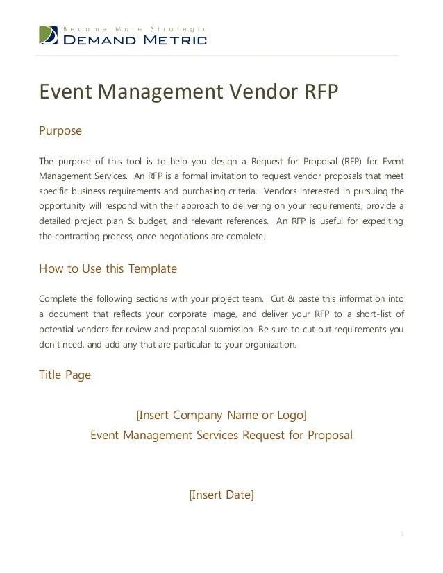 event management proposal template - Josemulinohouse