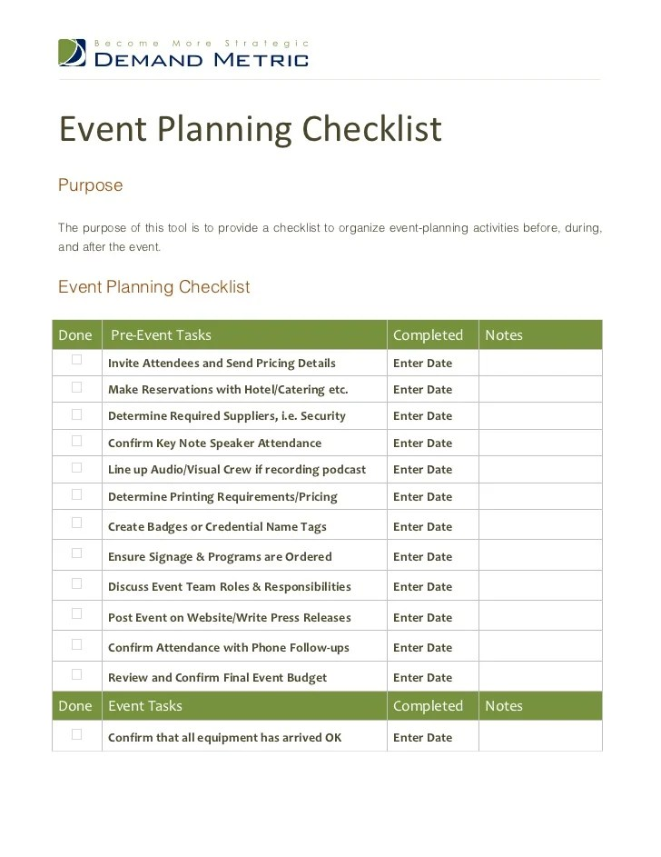Event Planning Template Excel – Events Planning Template