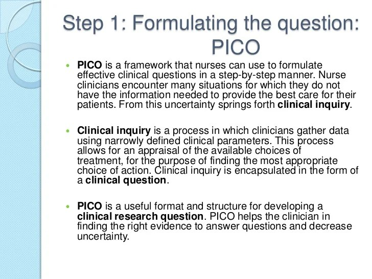 Pico Question Examples Image Collections Example Cover Letter For