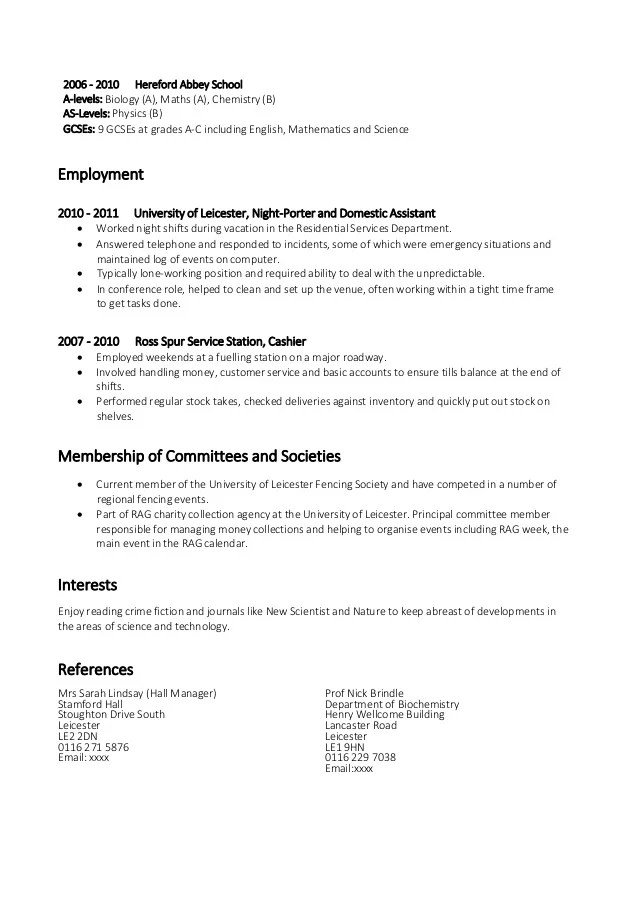 Example Skills For Resume  Template