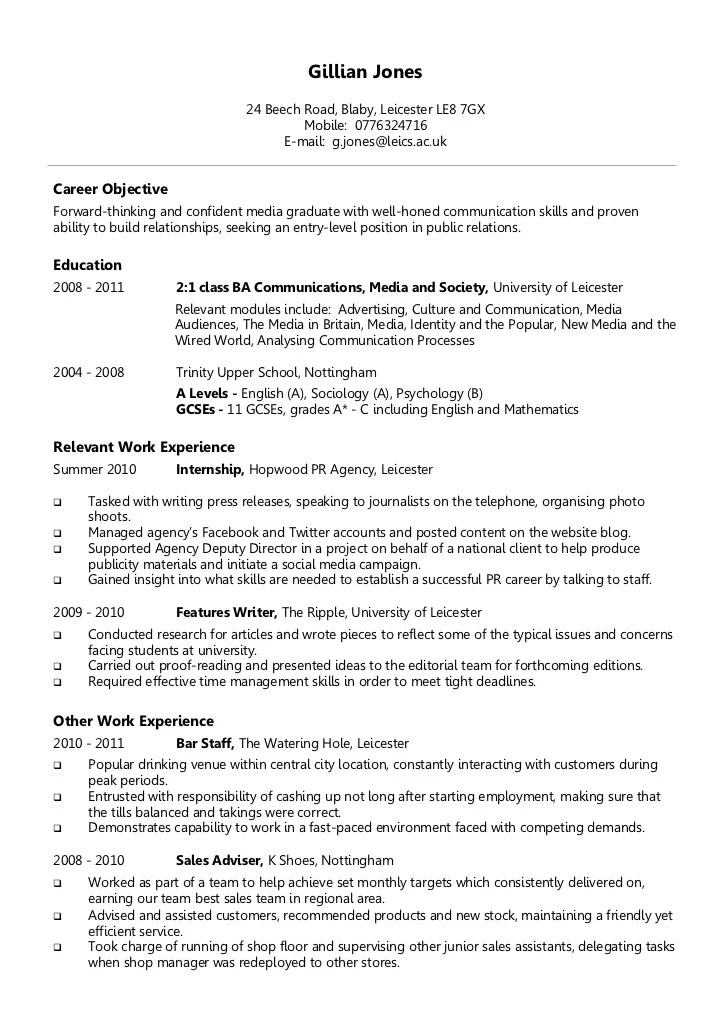 chronological sample resume - Ozilalmanoof