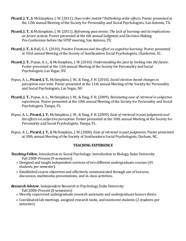 conference poster resume examples