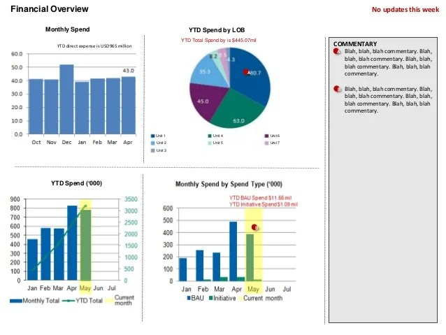 monthly financial report example