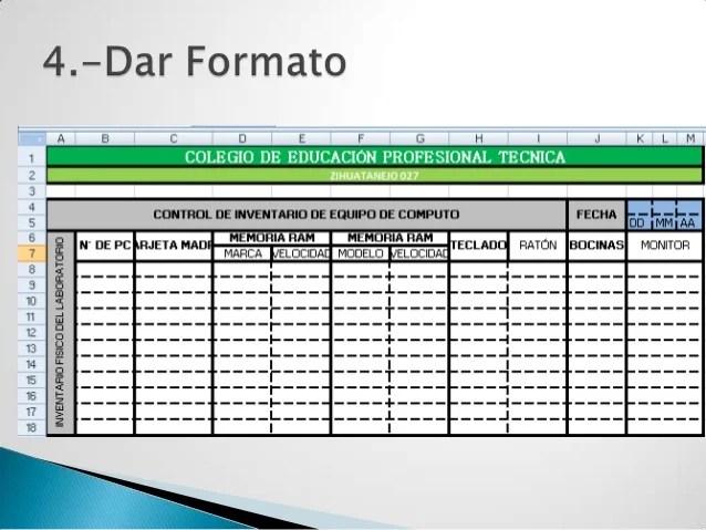 Formato De Inventario En Excel cvfreepro - formato inventario en excel