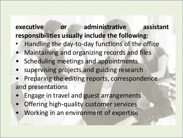 duties of an administrative assistant - Bire1andwap