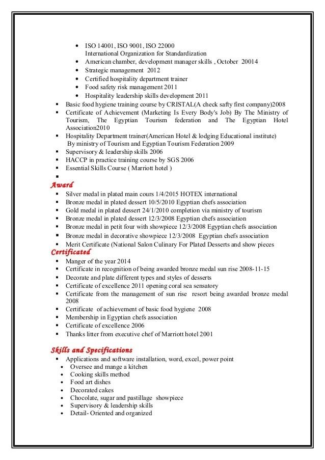 executive sous chef resume - Josemulinohouse - chef skills resume