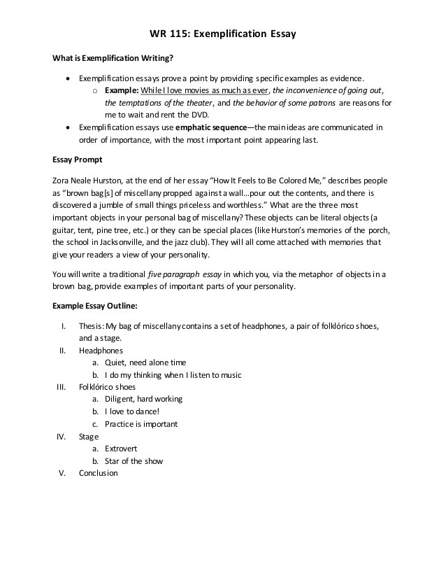 Exemplification Paper