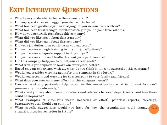 exit interview form - Akbagreenw