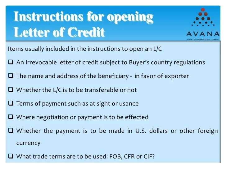 Letter Of Credit Seb Banka Export Documentations