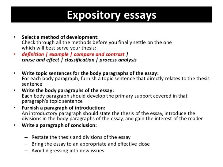 expository example essay