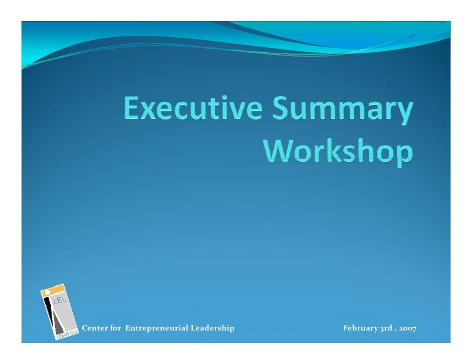 Business Plan Template Executive Summary – How to Write an Effective Executive Summary