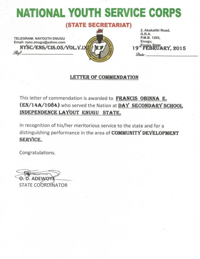 how to write a letter of commendation - Honghankk - free commendation letters
