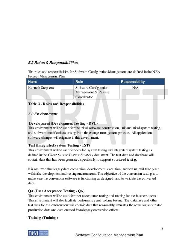Software Configuration Management Resume software configuration