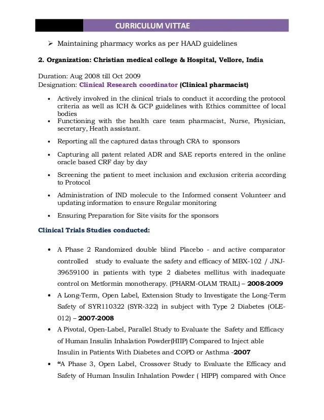 Cv Examples And Live Cv Samples Visualcv Pharmacist Resume 1