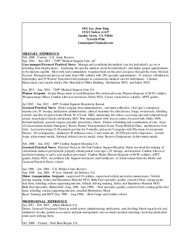 sample lvn resume - Gottayotti