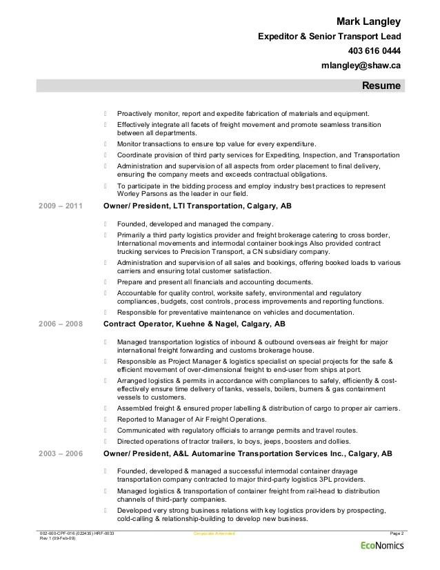 Ship Broker Sample Resume cvfreepro - ship broker sample resume