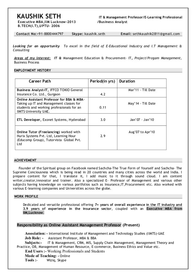 cv of assistant professor in management - Goalgoodwinmetals