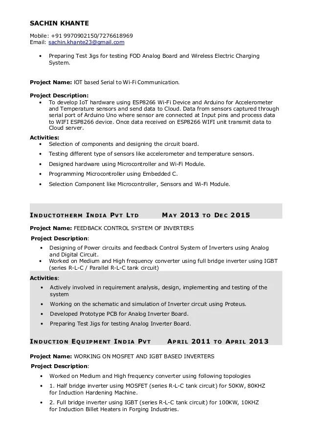 electronics design engineer resume - Onwebioinnovate