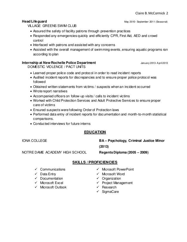 lifeguard resume job description - Josemulinohouse