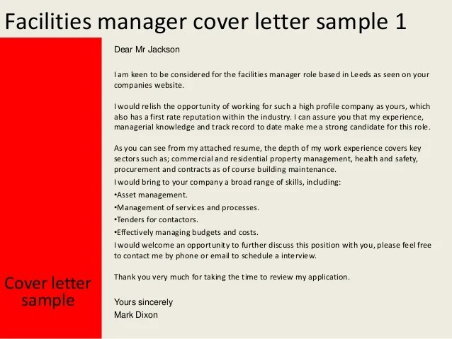 medical assistant cover letter sample facilities manager cover letter