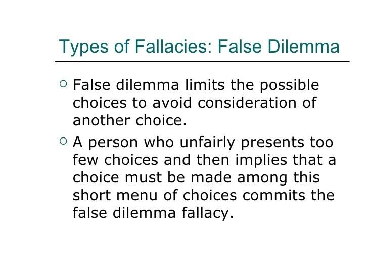 Entry4 Pics For Gt False Dilemma Fallacy Examples