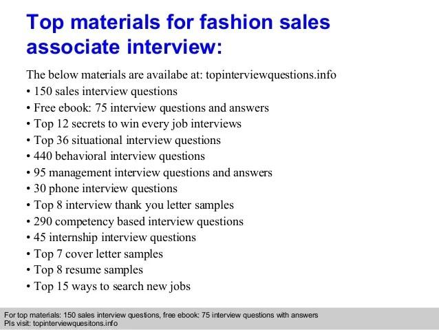 fashion sales associate job description - Selol-ink