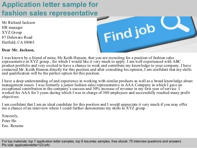 director of sales and training cover letter