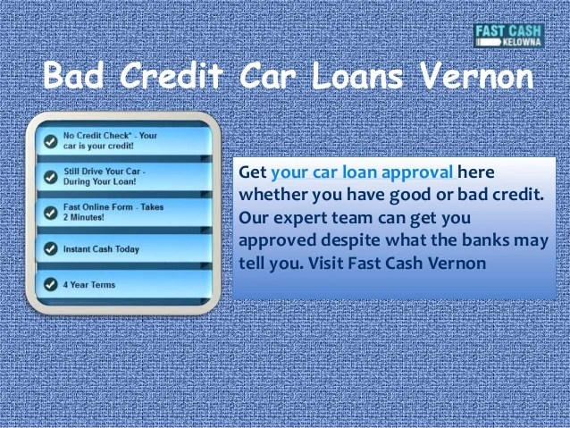 Car Loans With Bad Credit