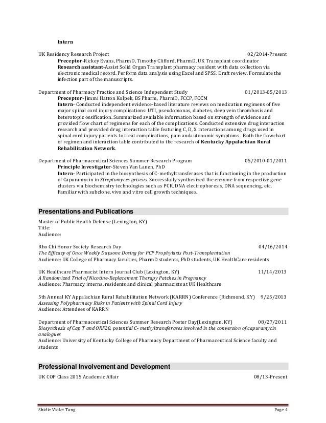 pharmacy intern resumes - Minimfagency