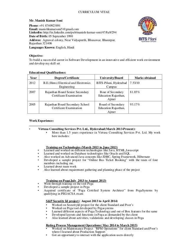 resume for company - Onwebioinnovate - company resume