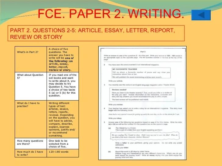 Fce Exam Format