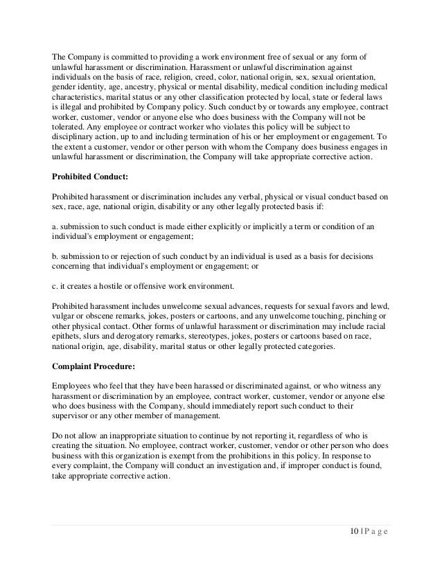 Free Employee Forms Free Links Employee Handbook