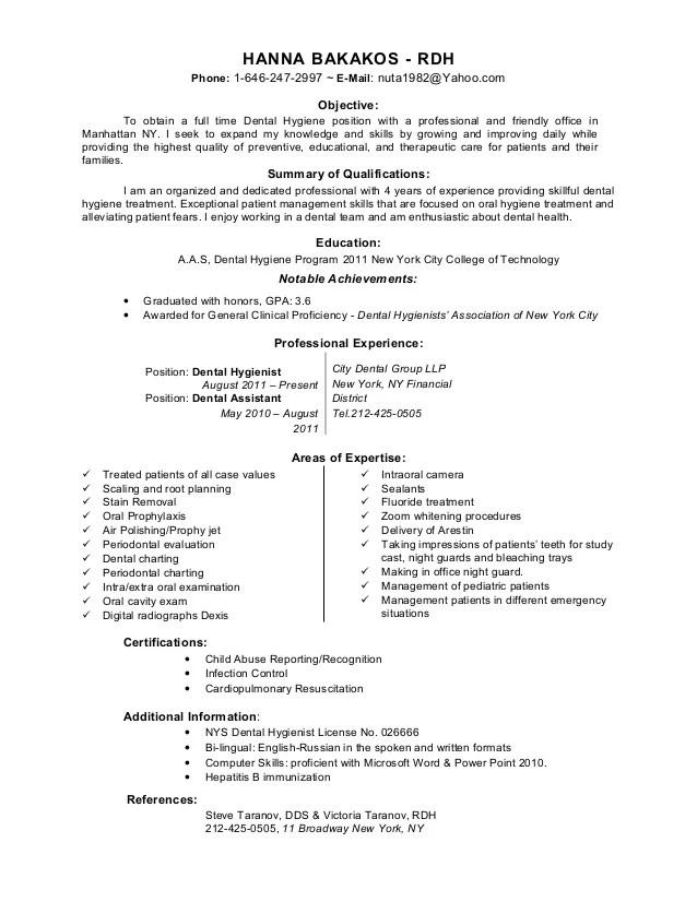 dental hygiene resume objective - Onwebioinnovate - dental hygienist resume objective