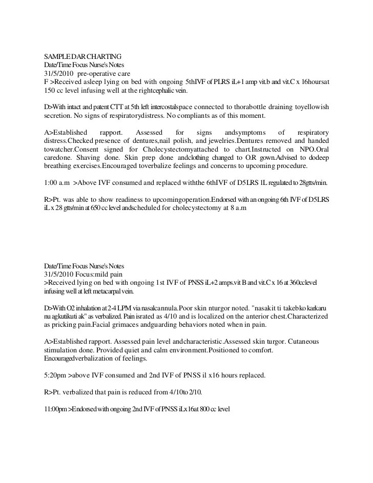 Dar Note Example Images - example of resume for student