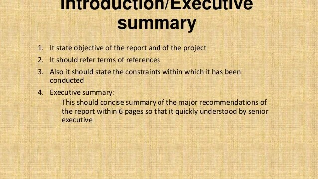 executive summary example for report - Romeolandinez - project summary report example
