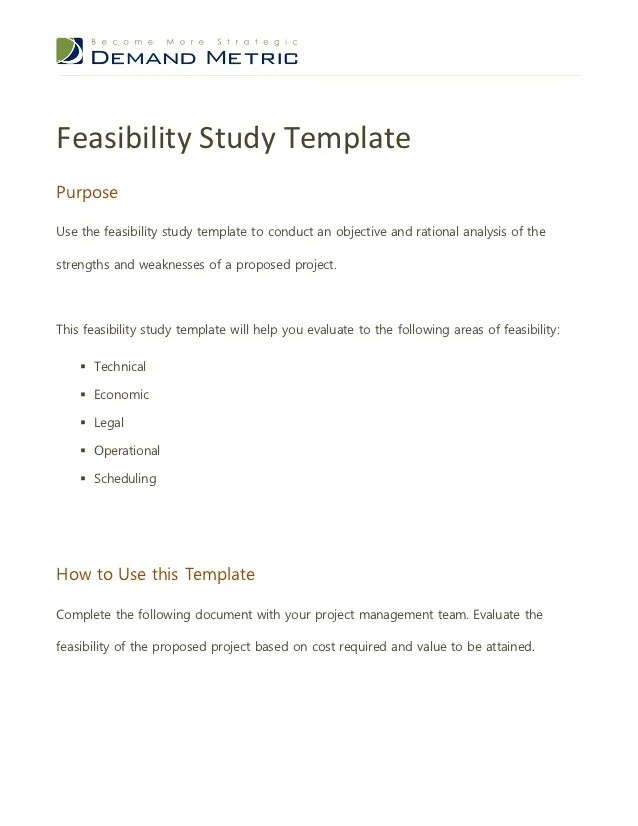 Sam System For Award Management Technical Feasibility Template Feasibility Study Bakery