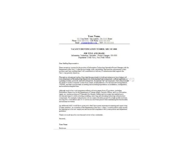federal resume cover letter - Onwebioinnovate - federal resume builder