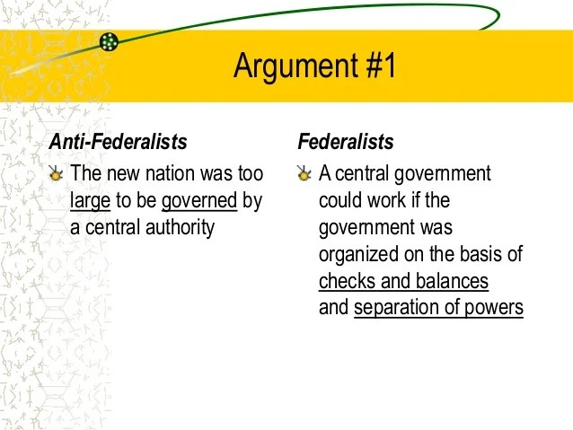 Essay On The Anti Federalists