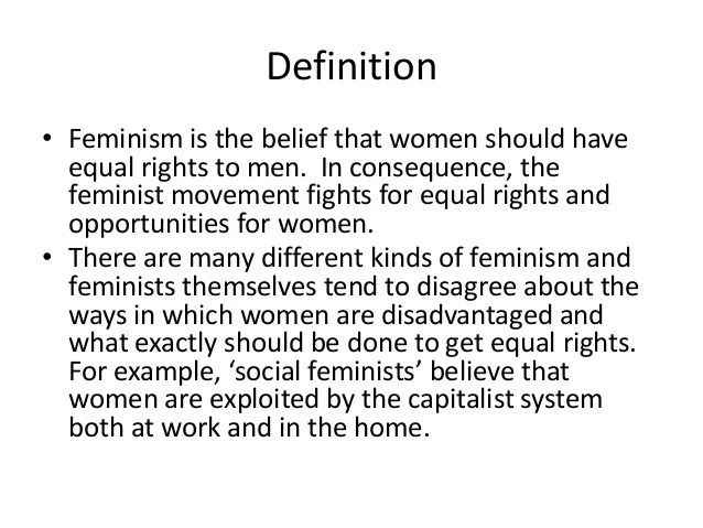 feminist theory definition
