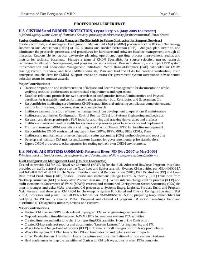Configuration Management Resume Examples. executive summary resume ...