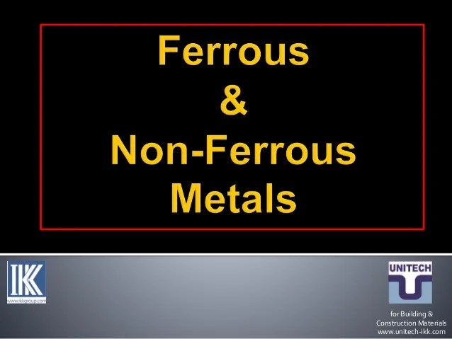 Ikk Login Ferrous And Non Ferrous Metals