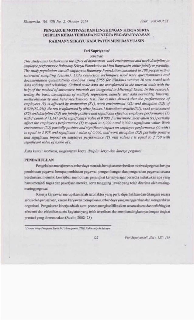 Proposal Pengaruh Kepemimpinan Terhadap Kinerja Karyawan Kumpulan Judul Contoh Tesis Manajemen Sdm Sumber Daya Pengaruh Motivasi And Lingkungan Kerja Serta Disiplin Kerja Terhadap
