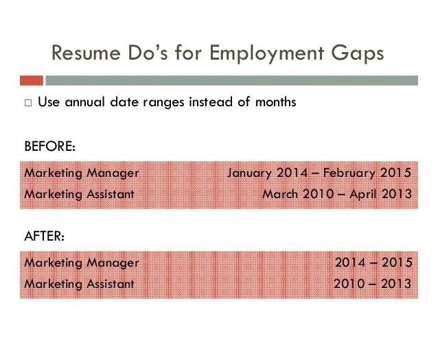 gaps of employment - Josemulinohouse - gaps on resumes