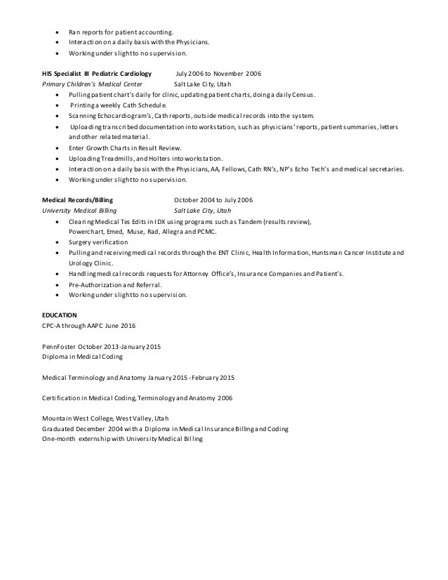 Medical coding auditor cover letter