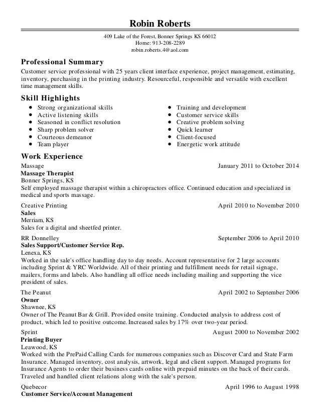 robin roberts resume