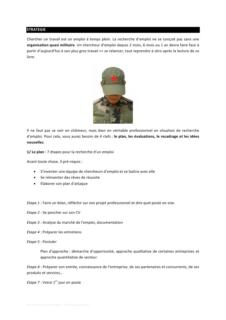 modele de cv militaire