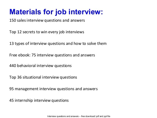 example interview questions and answers - Goalgoodwinmetals