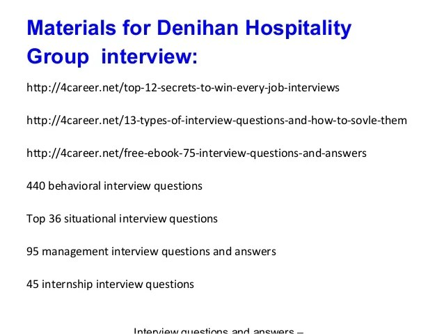 hospitality management interview questions and answers kicksneakers