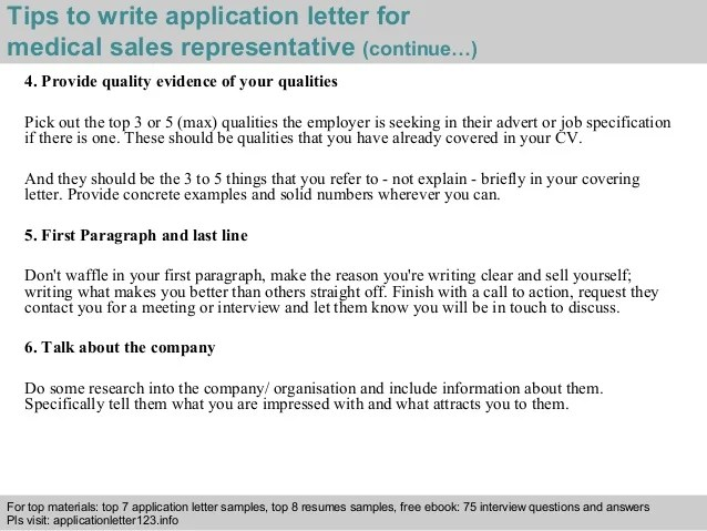 medical sales cover letter sample - Demireagdiffusion